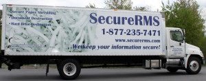 New Secure Records Management Services Truck